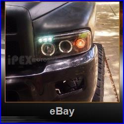 For 1994-2001 Dodge Ram 2500 1500 Halo Projector LED Headlight +Tail Light Black