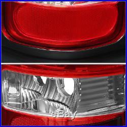 For 1994-2002 Dodge Ram Pickup Chrome Housing Red Lens Led Brake Tail Light