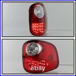 For 1997-2003 Ford F150 F-150 Flareside Red Lumileds LED Tail Lights Brake Lamps