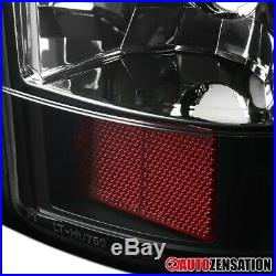 For 1999-2002 Chevy Silverado GMC Sierra 1500 Black LED Tail Lights Brake Lamps