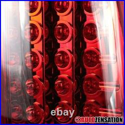 For 1999-2002 Chevy Silverado GMC Sierra 1500 Red LED Tail Lights Brake Lamps