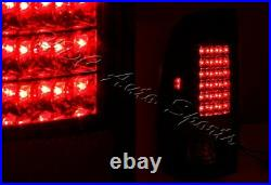 For 1999-2007 Ford F250 Super Duty Styleside Smoke Housing LED Tail Lights Lamps