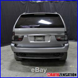 For 2000-2006 BMW X5 E53 Pair Smoke Lens LED Tail Lights Lamps with Neon Tube DRL