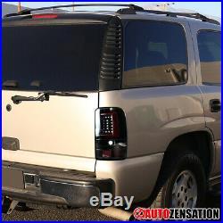 For 2000-2006 Chevy Suburban GMC Tahoe Yukon XL Slick Black LED Tail Lights Bar