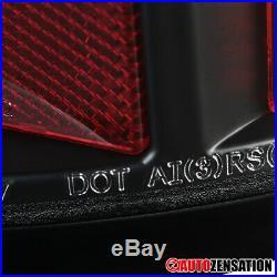 For 2000-2006 Chevy Suburban GMC Yukon XL Black LED Tail Brake Lights Clear Bar