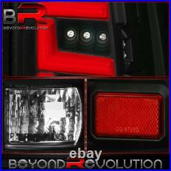 For 2000-2006 Gmc Yukon Denali Tahoe Black Housing Clear Lens Red LED Tail Light