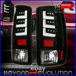 For 2000-2006 Gmc Yukon Denali Tahoe Black LED Tail Lights LED Rear Brake Lamps
