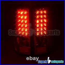 For 2000-2006 Yukon Denali Tahoe Suburban LED Tail Lights Brake Lamp Red