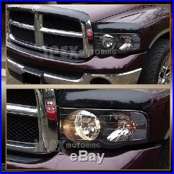 For 2002 2005 Dodge Ram 1500 2500 3500 Black Headlights Ultra Led Tail Lights