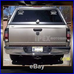 For 2002-2005 Dodge Ram 1500/2500/3500 Black Headlights + Ultra LED Tail Lights