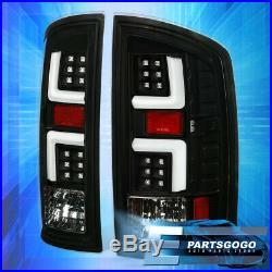 For 2002-2006 Dodge Ram 1500 2500 3500 Black / White Led Tail Brake Light Lamps