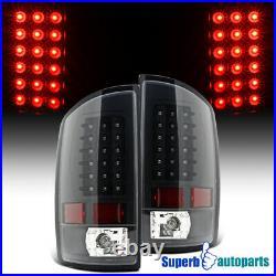 For 2002-2006 Dodge Ram 1500 2500 3500 LED Tail Lights Brake Lamp Black