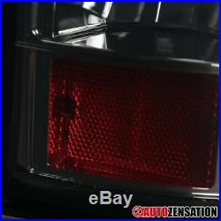 For 2003-2006 Chevy Silverado 1500 2500 Smoke Full LED Tail Lights Brake Lamps