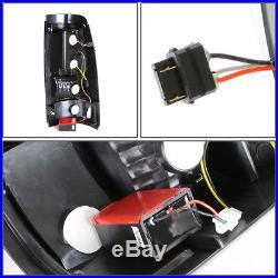 For 2003-2007 Chevy Silverado Black Housing Smoked Led Tail Light Brake Lamp