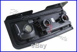 For 2003-2009 Hummer H2 Red/Smoke Lens Full LED Rear Brake Stop Tail Lights Lamp