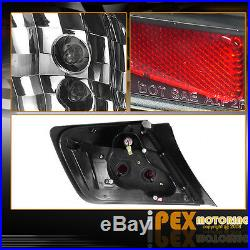 For 2004-2007 Scion TC Dual Halo Projector LED Headlights + Tail Lights Black