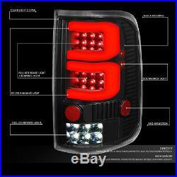For 2004-2008 Ford F150/lobo Pair Black Housing Dual 3d Led Bar Tail Light/lamps