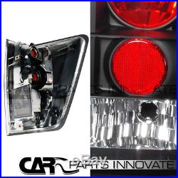 For 2004-2013 Nissan Titan Black Halo LED Projector Headlights+Tail Lamp