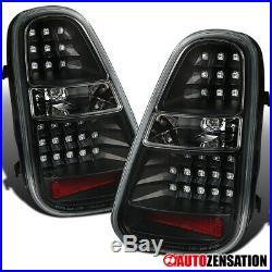 For 2005-2006 Mini Cooper S Black Clear Full LED Tail Brake Lights Signal Lamps