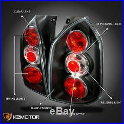 For 2005-2009 Tucson Black LED Halo Projector Headlight+Rear Tail Lamp