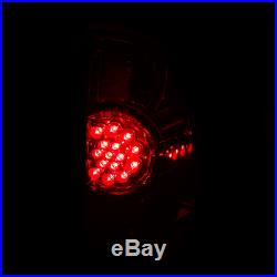 For 2005-2015 Toyota Tacoma PickUp LED Smoke Rear Brake Tail Lights Pair