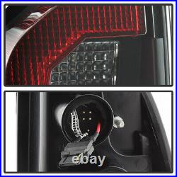 For 2005-2015 Toyota Tacoma Pickup Black LED Strip Tail Lights Lamps Left+Right