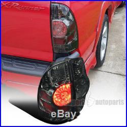 For 2005-2015 Toyota Tacoma X-Runner Smoke Lens LED Tail Brake Lights Lamps