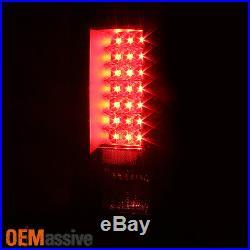 For 2007-13 Silverado 1500 2500 3500 LED Black Tail Lights + LED 3rd Brake Light