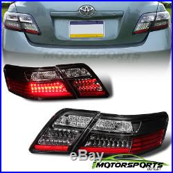 For 2007 2008 2009 Toyota Camry L/LE/SE/XLE LED Black Tail Lights Pair