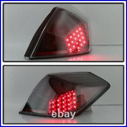 For 2007-2012 Altima 4-Door Sedan Black LED Tail Lights Brake Lamps Left+Right