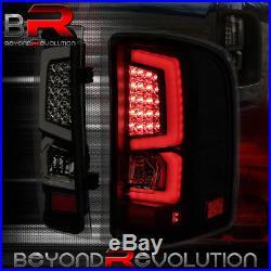 For 2007-2013 Silverado 1500 2500 3500 Led Black Smoked Lens Tail Light Pair