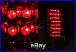 For 2007-2014 Chevy Silverado 1500 2500 3500 LED Smoke/Red Lens Rear Tail Lights