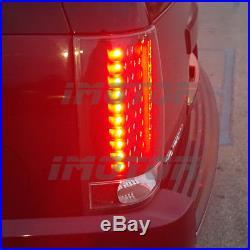 For 2007-2014 Chevy Suburban Tahoe GMC Yukon Black Metal LED Tail Lights Pair