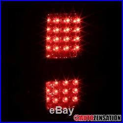 For 2009-2014 Ford F150 Smoke LED Tail Brake Lights Turn Signal Lamps Pair