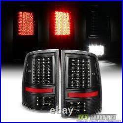 For 2009-2018 Dodge Ram 1500 10+ 2500 3500 Black Full LED Tail Lights Brake