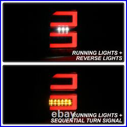 For 2010-2020 Toyota 4Runner Black Full LED Tube withSequential Tail Lights Lamps