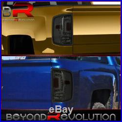 For 2014-2018 Chevrolet Silverado Smoked Lens LED Tube Tail Light Lamps