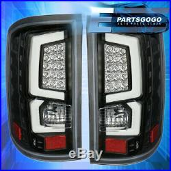 For 2014-2018 Gmc Sierra 1500 2500 Tube Led Tail Light Black Housing Clear Lens