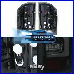 For 2014-2018 Gmc Sierra 1500 Tube Led Tail Light Lamps Black Housing Smoke Lens