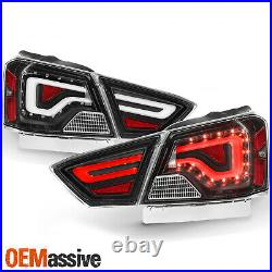 For 2014-2020 Chevy Impala LED Tube Black Tail Lights with Signal Lamps LH+RH Pair