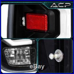 For 2014-2020 Tundra White Bar Tube LED Light Tail Lamps Black Clear Lens Set