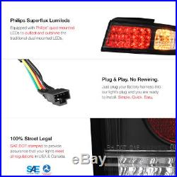 For 240SX S14 1995-98 kouki Zenki Black Bright LED Tail Light Brake Signal Lamp