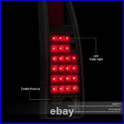 For 88-98 C10 Suburban Silverado Black Housing Smoke Led Taillights Tail Lamps