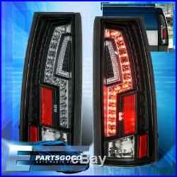 For 88-98 C1500 C2500 Direct Replacement LED Brake Stop Black Tail Lights Lamps