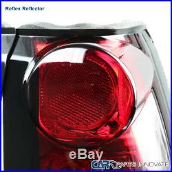 For 88-98 C/K C10 Silverado Blazer Tahoe Red LED Tail Lights Brake Lamps Pair