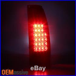 For 88-98 Chevy C/K Silverado Suburban Tahoe Sierra LED Black Smoked Tail Lights