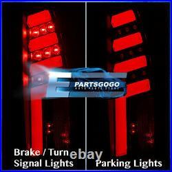 For 88-98 Chevy GMC C10 1500 2500 LED Brake Tail Lights Lamps Set Black Red Tube