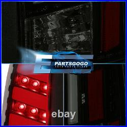 For 88-98 Chevy GMC C10 C/K 1500 2500 LED Brake Tail Lights Lamps Black Smoked