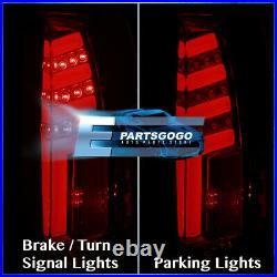 For 88-98 Chevy GMC C10 C/K 1500 2500 LED Brake Tail Lights Lamps Pair Red Smoke