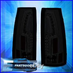 For 88-98 Chevy GMC C/K C10 Sierra LED Brake Tail Lights Lamps Left+Right Smoked